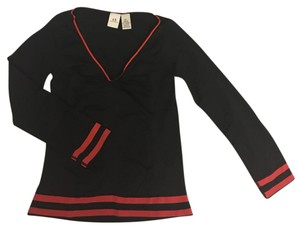 A|X Armani Exchange Soft Stretchy Top black with red stripe