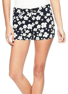 Juicy Couture Printed Mini/Short Shorts Regal Navy and White