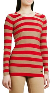 Burberry Red/Beige Striped Sweater