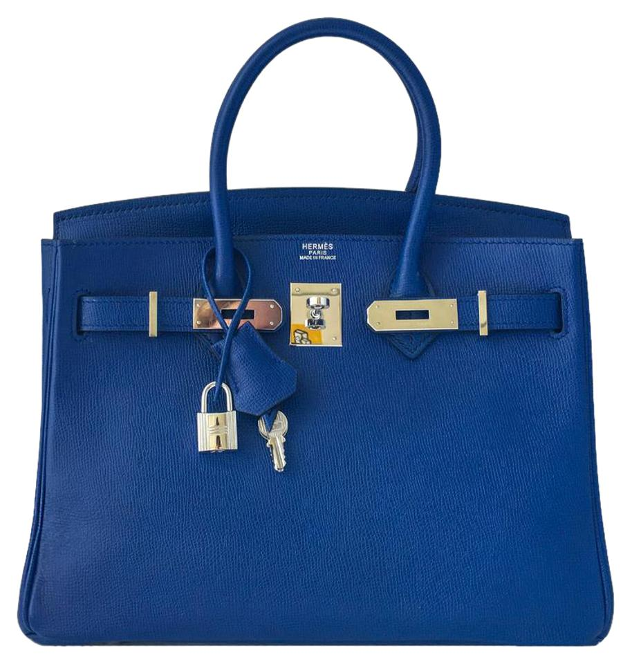 e640922791 Hermès Birkin 30cm Palladium Hardware Shw Phw Blue Epsom Leather ...