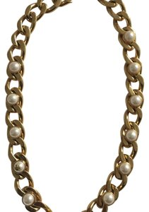 Tory Burch Link Pearl Necklace