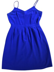 Anthropologie short dress Bright Blue/Bright Periwinkle Blue Strappy Pockets on Tradesy