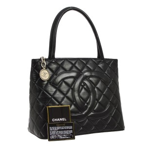 Chanel Vintage Leather Logo Luxury Lambskin Shoulder Bag