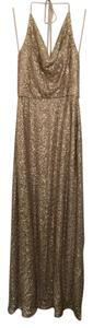 Amsale Gold Honora Dress
