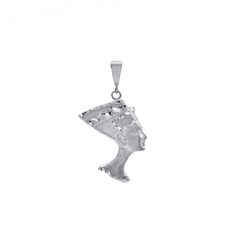 Avital co jewelry 14k white gold egyptian queen nefertiti pendant avital co jewelry 14k white gold egyptian queen nefertiti charm pendant mozeypictures