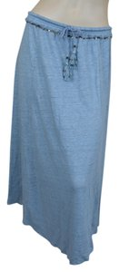 Calypso St. Barth Linen Sequin Elastic Skirt Blue