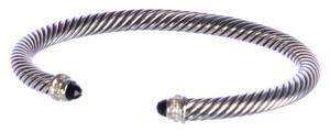 David Yurman Cable Classics Bracelet with Black Onyx 5mm Size Medium $625 NWOT