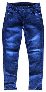 Mother Denim The Long Dropout Mother Skinny Pants Blue