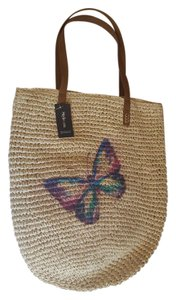 Style & Co Weekend Straw & Tote in multi