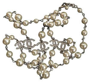 Chanel CHANEL Authentic Crystal Pearl CC Necklace NWT