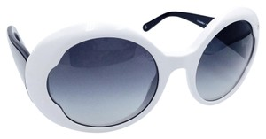 Chanel Butterfly Roud Retro Vintage Style White Sunglasses 5154 c.1159/3C