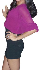 Swool Top Magenta, Purple, Fuchsia, Black