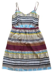 Madewell short dress Print Silk Silk Tank Fitted Stripe on Tradesy