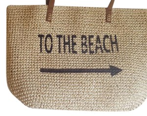 Style & Co Weekend Straw & Beach Tote in multi