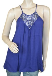 Rebecca Taylor Studded New Viscose Top Navy