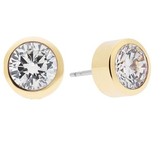 Michael Kors New Michael Kors Brilliance Crystal Stud Earrings Gold