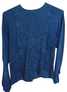 Anne Klein Silk Top Blue