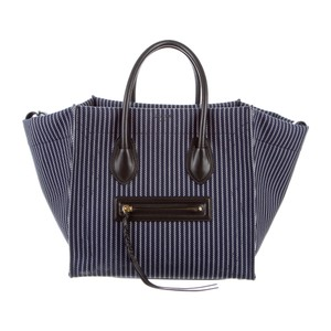 Céline Satchel in navy blue and white
