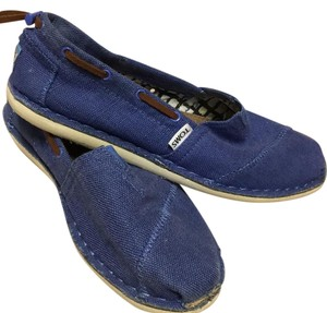 TOMS purple with brown leather detail Flats