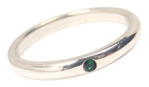 Tiffany & Co. Tiffany & Co Peretti Sterling Silver Emerald Stacking Band Ring