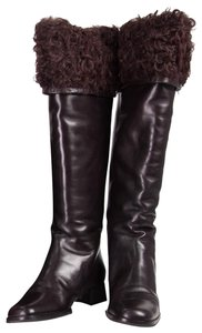 Chanel Leather Long Fashion Clothing Brown Boots