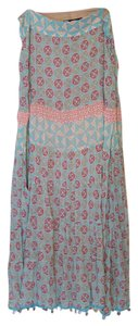 Apostrophe Maxi Summer Beaded Light Skirt Cyan