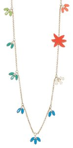 Marc Jacobs Marquis And Palm Stations Crystal Charm Necklace
