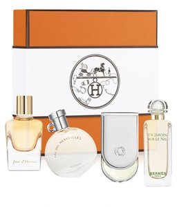 Herms Limited Edition Hermes 4 Piece Miniature Fragrance Coffret Gift Set