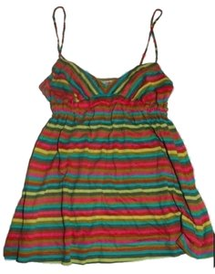 Free People Multi Colored Brightly Striped Top Bright Multicolored