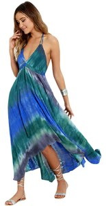BLUE TIE-DYE Maxi Dress by Love Stitch