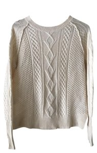 360 Sweater 360 Cashmere Cashmere Cream Knit Sweater