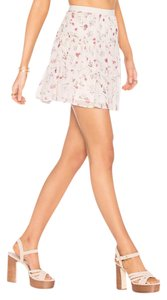 Joie Pull Lined Mini Skirt Pink/multi