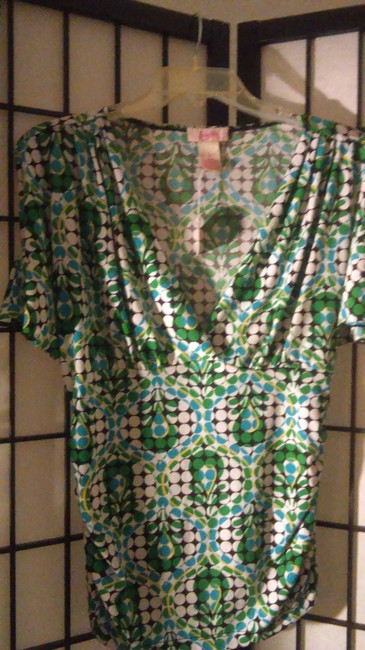 Candie's Top green, multi