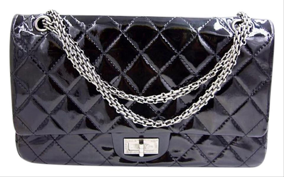 d81829662d19b2 Chanel 2.55 Reissue 227 Black Patent Leather Shoulder Bag - Tradesy