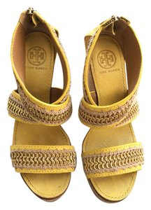 Tory Burch Yellow Wedges