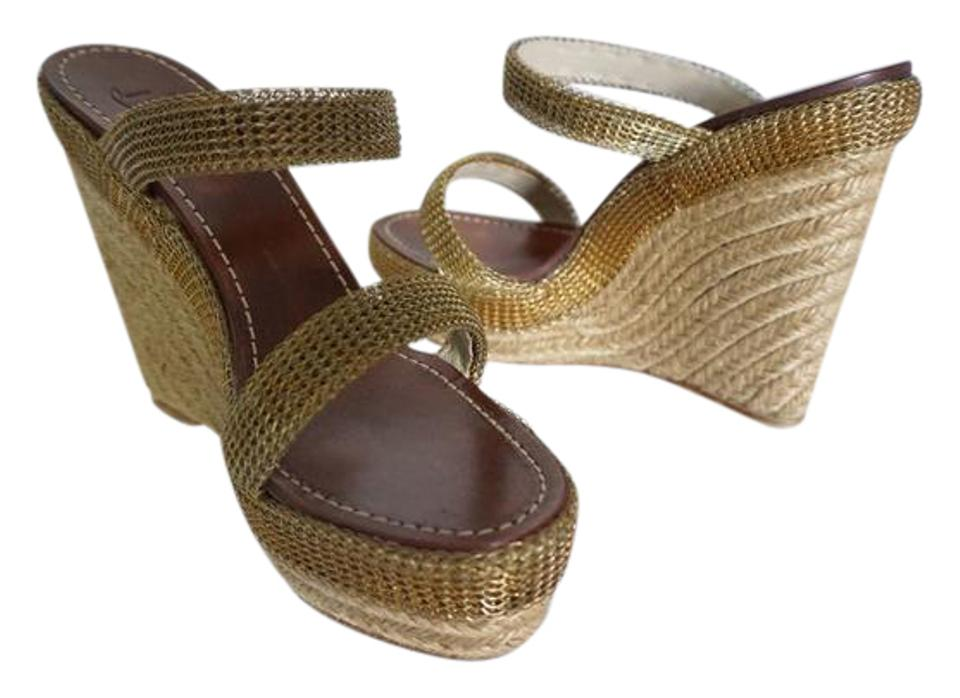 a9ff4f51e7a7 Christian Louboutin Cadena 140 Espadrille Sandals Size 9 Sandals Gold Wedges  Image 0 ...