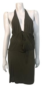 Development short dress Olive Green Halter Open Back Knee Length on Tradesy