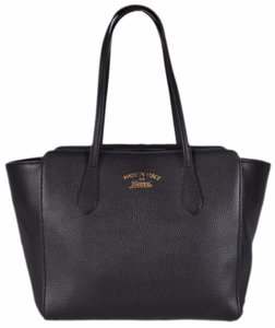 Gucci Leather Shopping Tote in Black