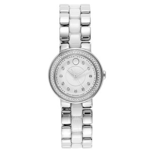 Movado Movado Cerena 0606931 Stainless Ceramic Diamond Womens Watch