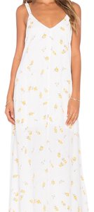 white and yellow Maxi Dress by Flynn Skye