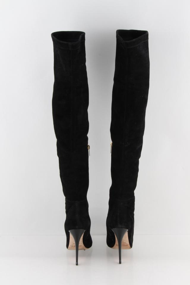 081c20ab66f Jimmy Choo Black Turner Suede Over The Knee Boots/Booties Size US 9 Regular  (M, B) 54% off retail