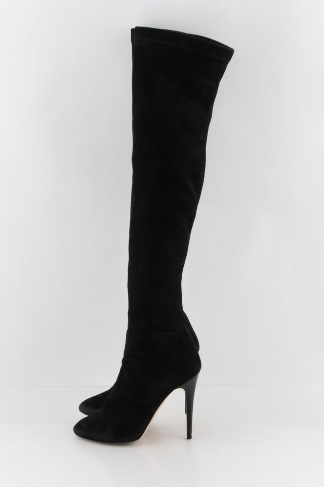 c672814321c Jimmy Choo Black Turner Suede Over The Knee Boots Booties Size US 9 Regular  (M