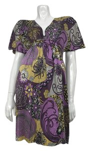 Alice and Trixie short dress Purple Silk Knee Length Printed on Tradesy