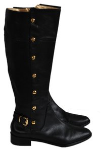 Michael Kors Leather Calf Boot Fall Black Boots