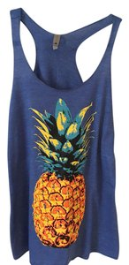 Next Level Apparel Top Blue with Pineapple