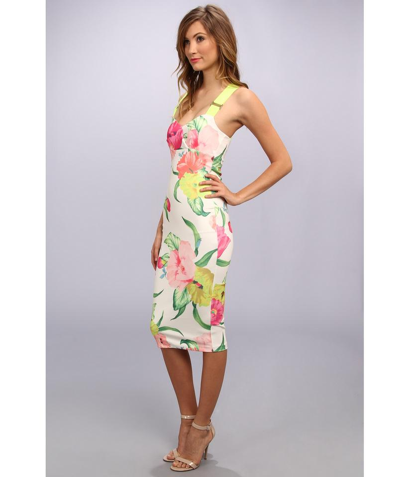 Ted Baker Bright Floral Taylor Flowers At High Tea Mid Length