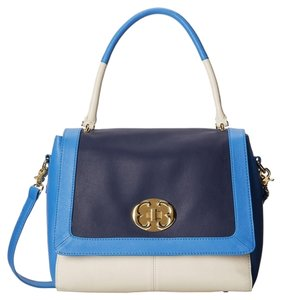 Emma Fox Satchel in White/Blue