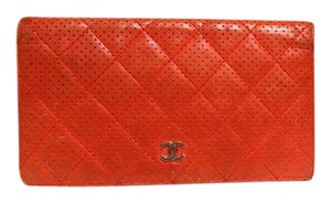 Chanel Chanel_Rouge_Perforated_Quilted_Lambskin_Long_Wallet