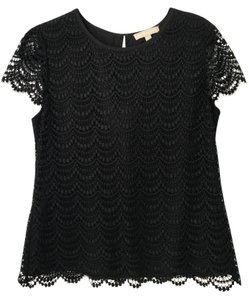 Banana Republic Lace Top Black