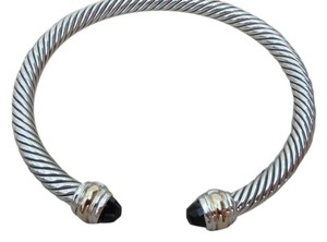 David Yurman medium size 5 mm Cable Bracelet with black onyx and 14K Gold